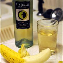 Przepis na galaretkę winną z bananami