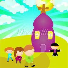 Maluchy w kościele