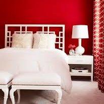 Sypialnia na czerwono
