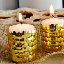 Ciekawe pomysły na ozdabianie świec – pinezki