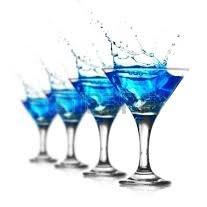 Niebieski szampan