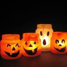 Halloweenowe lampiony ze słoików