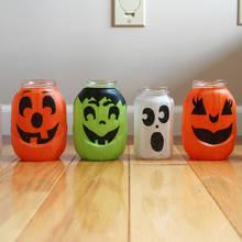 Jak zrobić halloweenowy lampion ze słoika?