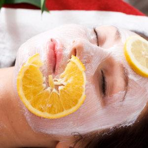Maseczka z pomarańczy i twarogu
