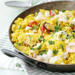 Przepis na danie z ryżem i owocami morza