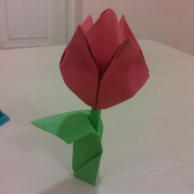 Jak wykonać tulipana origami?