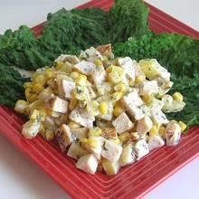 Przepis na majonezową sałatkę z kurczakiem i ananasem