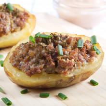 Przepis na pieczone ziemniaki faszerowane mięsem mielonym
