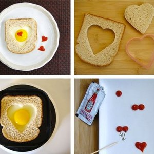 Serce w kanapce