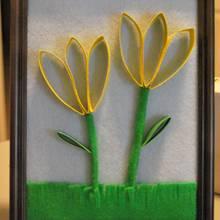 Jak zrobić wiosenny obrazek 3D z filcu?
