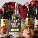 Halloweenowe etykiety na alkohole