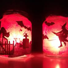 Jak wykonać lampion na Halloween z papieru?