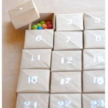 Ciekawy kalendarz adwentowy z kartonu