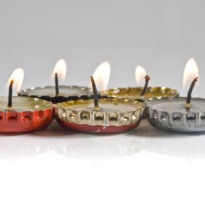 Jak zrobić ciekawą świeczkę z kapsla?