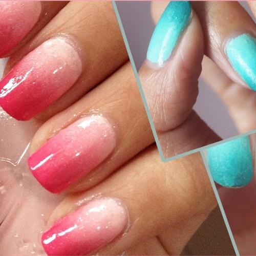 Prosty sposób na zrobienie ombre na paznokciach