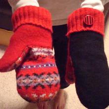Ciekawy sposób wykonania rękawiczek ze swetra