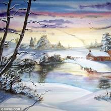 Jak przygotować kartkę świąteczną z motywem zimowego krajobrazu?