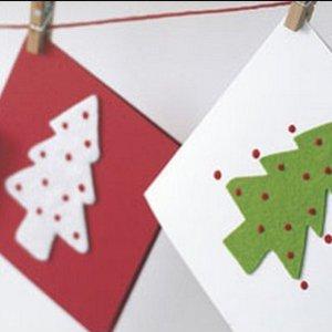 Wykonanie kartki świątecznej – sposób pierwszy
