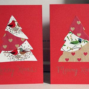 Wykonanie kartki świątecznej – sposób drugi