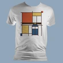 Jak wykonać koszulkę pomalowaną w Mondrianowskie wzory?