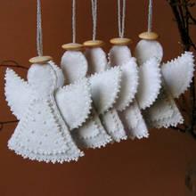 Jak zrobić aniołka z filcu na choinkę?