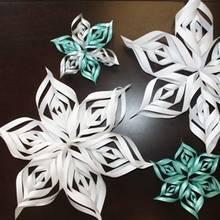 Jak zrobić śniegowe gwiazdki z papieru?