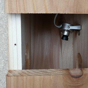 Mocowanie kamery w budce lęgowej – krok trzeci