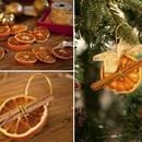 Piękne ozdoby z suszonych pomarańczy