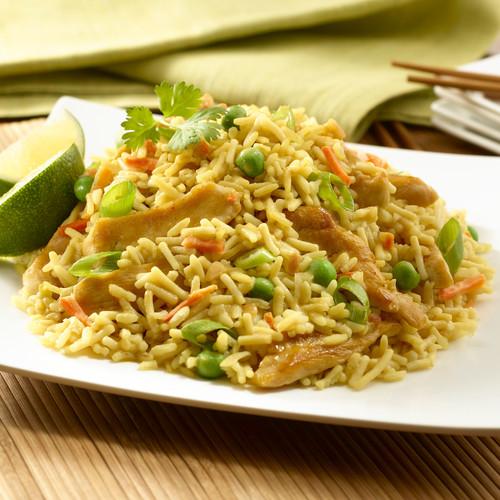 Smaczny obiad – kurczak i smażony ryż