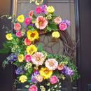 Wielkanocne dekoracje na drzwi