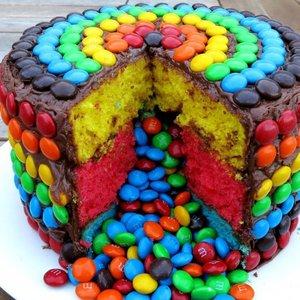 Wesoły tort urodzinowy dla dziecka