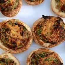 Ciekawe danie – grillowane pieczarki z kozim serem
