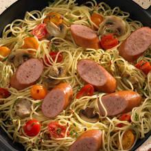 Smaczne spaghetti z parówkami
