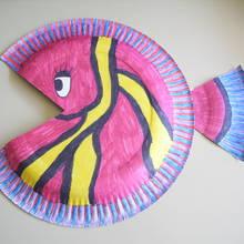 Jak wykonać zabawną rybkę z talerzyka?