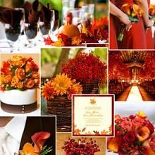 Pomysły na jesienną dekorację sali weselnej