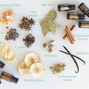 Typowe składniki potpourri