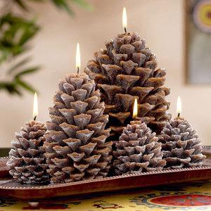 Jak wykonać świeczki z szyszek?