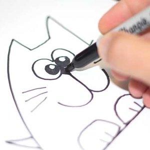 Jak w prosty sposób narysować kota?