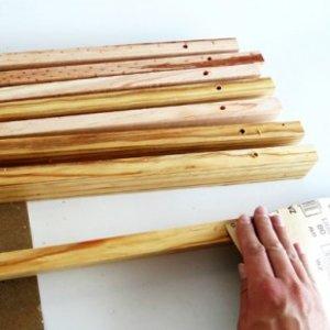 Wycieraczka z drewna – krok trzeci