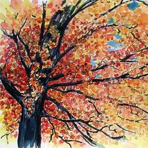 Jak zrobić ładny rysunek jesiennego drzewa?