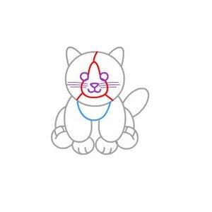 Rysowanie kota – krok czwarty