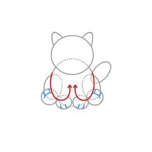 Rysowanie kota – krok trzeci