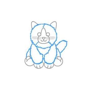 Rysowanie kota – krok piąty