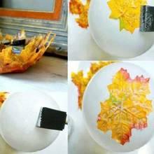 Jak wykonać miskę z jesiennych liści?
