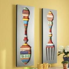 Jak wykorzystać łyżki do przygotowania kuchennej dekoracji?