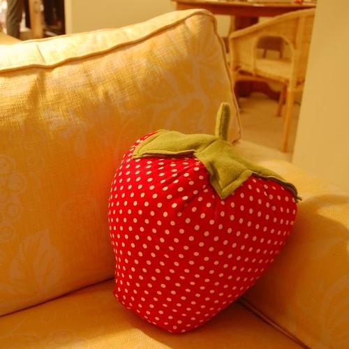 Jak zrobić ładną poduszkę-truskawkę?