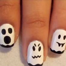 Jak zrobić straszne duchy na paznokciach?