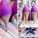 Jak łatwo ozdobić buty paskiem z brokatu?