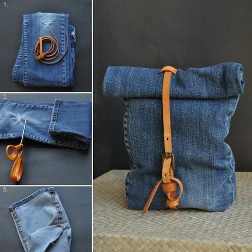 Prosty sposób wykonania torebki ze starych dżinsów