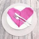 Prosty sposób złożenia serwetki w kształt serca